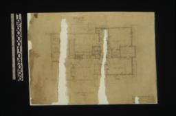 Second floor plan; section Y in bedrm. 1 : Sheet no. 3.
