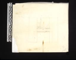 Rough preliminary sketch of attic floor plan /