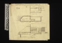 Alterations and additions -- partial ground plan\, partial cellar plan\, section at A-B : 1 /