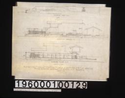 Elevations of walls and pergola -- elevation of east wall\, elevation on Berendo St\, elevation on Wilshire Blvd. :Sheet no. 2.