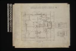 Second floor plan; mantel in bedroom 4 -- side elevation\, front elevation; mantel in bedroom 5 -- side elevation\, front elevation :No. 3.