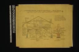 Section A-B and C-D; detail of fireplaces & chimney :8.