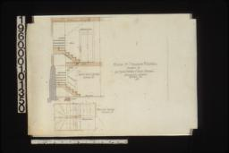 1/2 in. scale details of back staircase -- section\, plan :No. 15.
