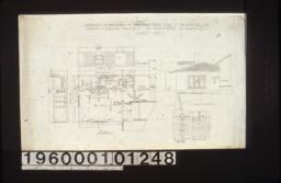 Plan of addition; elevations of bedroom -- west side, north side; south elevation of addition; detail drawings of front door in elevation and full size section :Sheet no. 1.