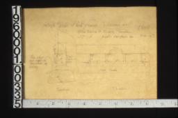 1 1/2 inch details of vent frames -- section\, elevation :No. 11\,