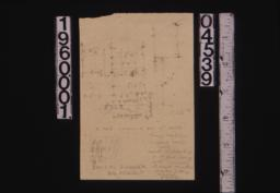 Unidentified rough sketches with measurements and notes