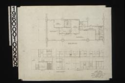 Second floor plan, elevations and sections of first floor and second floor :Sheet no. 8.