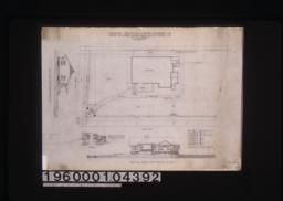 Site plan of grounds; Brent Avenue elevation showing coping wall; section and elevation of wall; Oxley Street elevation showing coping wall and fence; 1/2 inch details of fence on Oxley St.