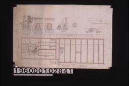 Building -- plan of foundation\, section thro' main walls\, section thro' 13 inch walls\, section thro' 17 inch walls\, section A-B\, detail of 13 inch brick footing for platform posts.