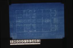 Main floor plan (make both sides alike) ; detail drawings -- medicine case, kitchen sink, dining rm. buffets, arch in dining room :Sheet no. 1.