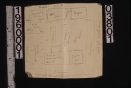 Rough sketch of site plan.