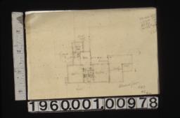Sketch of second floor plan\, scheme #6 R3