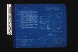 Garage -- plan\, south elevation\, east elevation :Sheet no 1.
