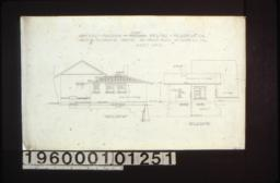 North elevation and west elevation of addition :Sheet no. 2. (3)