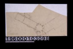 Sketch of partial floor plan\, unidentified sketches