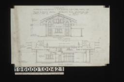 Garage -- west elevation, north elevation : Sheet no. 4,