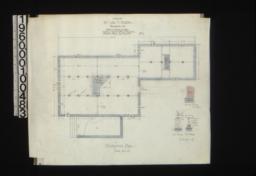 Foundation plan; detail drawings of chimney footings, wall footings, pier footings :No. 1.