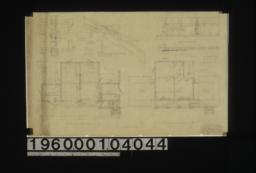 First floor plan; second floor plan; window detail in section and elevations; detail of verge boards; garage door detail -- elevation\, plan :Sheet no. 2.