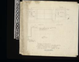 """Detail of finish in sleeping porch -- elevation\, section """"AA""""\, plan :Sheet no. 13."""
