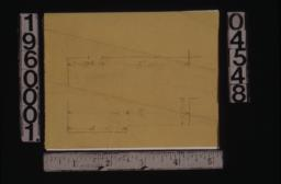 Unidentified sketch showing dimensions