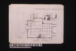 Foundation plan; typical sections -- wall\, large chimney\, pier\, small chimney :