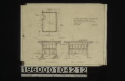 Sleeping porch addition to bungalow no. 2 -- south elevation and east elevation of exterior\, plan : Sheet no. 1.