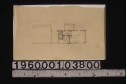 Sketch of partial first floor plan showing living room area