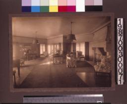 Living room with Elsie de Wolfe furnishings.