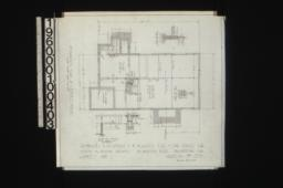Foundation plan of, keeper's house with sections : Sheet no. 1,