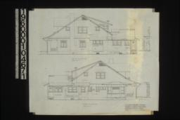 South elevation; north elevation :Sheet no. 4. (3)