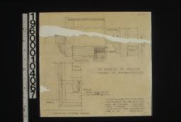 F.S. details of medicine cases in bathrooms 1-2 -- horizontal section\, section thru head\, elevations at lower corner : Sheet no. 13.