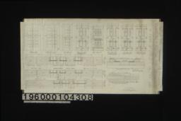 Inch scale and F.S. details of doors : Sheet no. 14\,