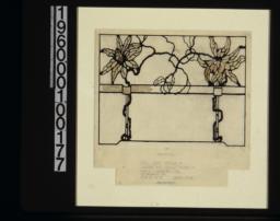Full size detail of leaded art glass work\, rendering :Sheet no. 16.