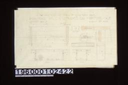 1 1/2 inch scale and full size details of living room table -- plan\, sides\, ends\, full size details :Sheet no. 7\,