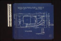 "Plan of grounds\, section of grade at ""A""-""B"" looking west\, elevatin of grade looking north from house : Sheet no. 1\,"