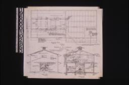 Stable -- foundation plan\, west end elevation\, section A-B : No. 2\,