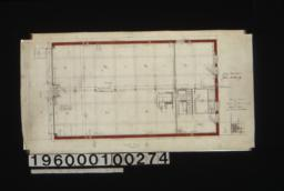 First floor plan\, elevation of office\, detail of ceiling partition : 2a.