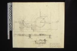 Details of pool and steps -- part plan\, part elevation with section of wall\, section on axis :Sheet no. 4.
