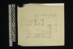 Sketch of plan of kitchen