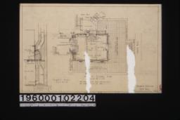 First floor plan; chimney detail in section : Sheet no. 2.