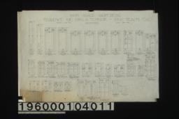Inch scale sash details :Sheet no. 14,