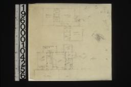 2nd floor plan\, 1st floor plan\, perspective sketch of stairway\, unidentified detail