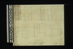 Pantry details -- elevations of north side\, west side\, east side\, south side; plan of ceiling : Sheet no. 6.