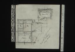 Drawing of paste-on for second floor plan