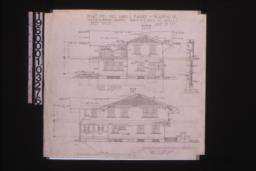 South elevation; east elevation; details of screened porch :Sheet no. 5\, (3)