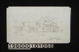North elevation ; north elevation of sun room : Sheet no. 6.