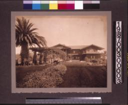 View from garden to rear elevation of main residence.