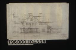 "South elevation; detail of plate ""A"" : Sheet no. 6."