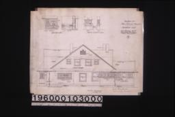 North elevation; details of cases--case in dining room\, sink in kitchen; mantle in reception room--front and side elevations;5.