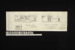 1/4 inch scale details of interior finish -- north side of living room\, east side of living room\, mantel in bedroom :8.